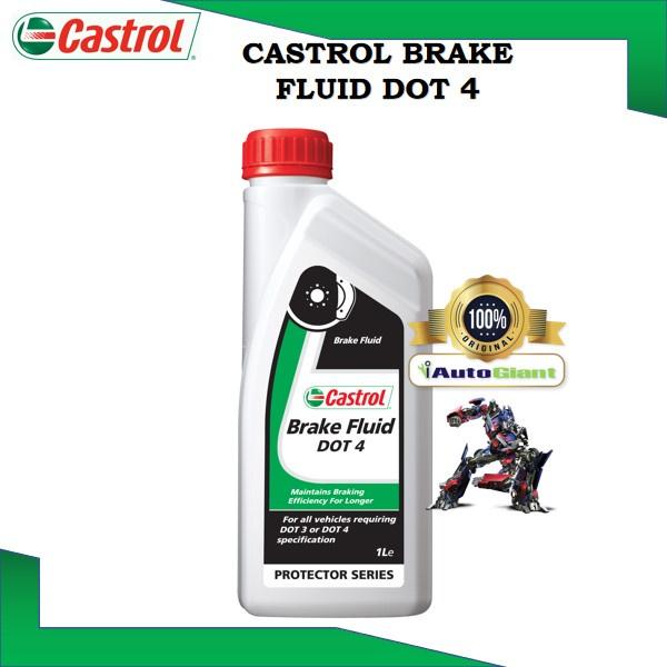 CASTROL BRAKE FLUID DOT 4, 1L Synthetic Glycols and Borate Ester (100% ORIGINAL)