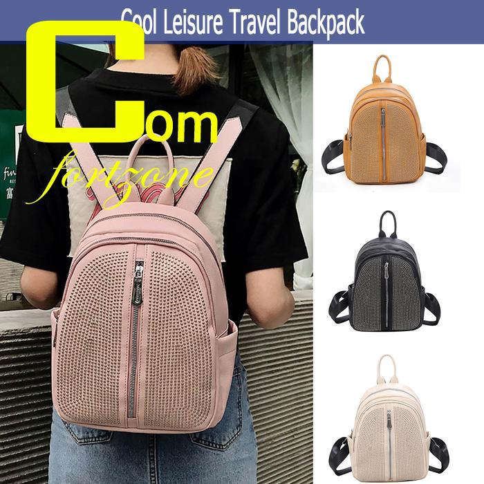 b256cd29e9c2 [ReadyStock] Fashion Women's Rivet Wild Cool Leisure Travel Backpack