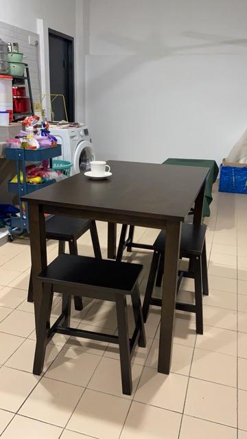 (READY STOCK) ( TABLE ONLY)DINING TABLE WITH MDF TOP/ MEJA ...