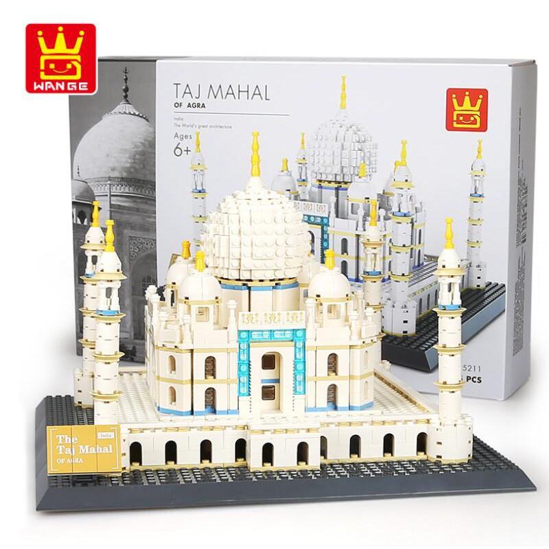 NEW Wange Architecture series the Taj Mahal Model Building Blocks set toys