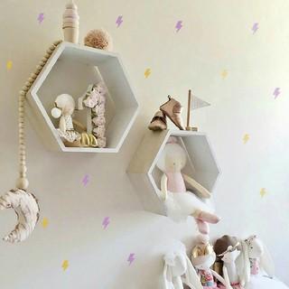 36pcs wall sticker lightning glitter esthetic bedroom