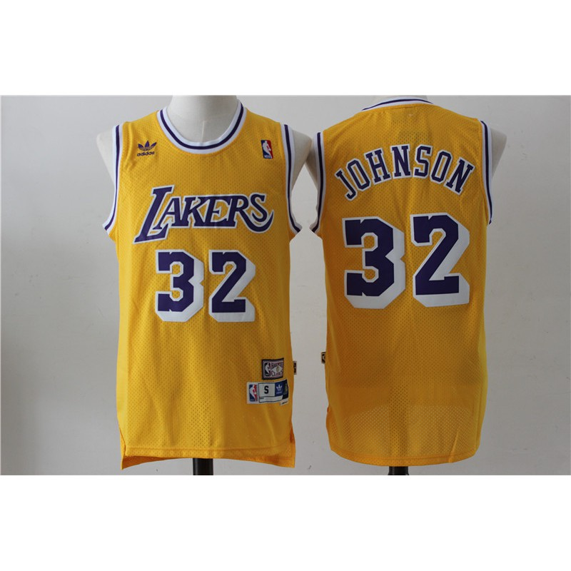 *READY STOCK*NBA Basketball Jersey Lakers NO 32 Yellow Vintage