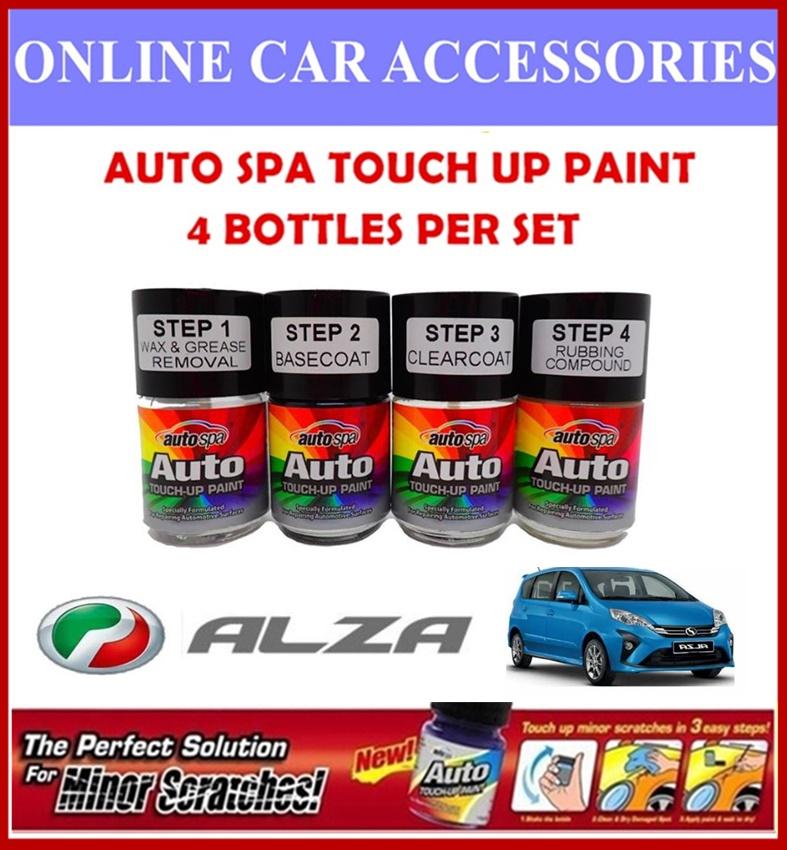 PERODUA Alza Original Touch Up Paint - AUTOSPA Touch Up Combo Set (4 Bottles Per Set)