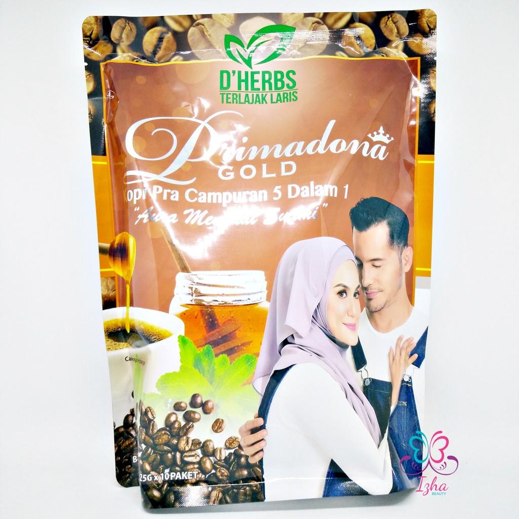 [D\'HERBS] Primadona Gold Coffee 5in1 - 10 sachet x 25g