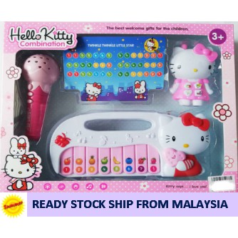Hello Kitty set of 3 Musical Microphone Speaker Piano Phone Baby Kids Toy  set