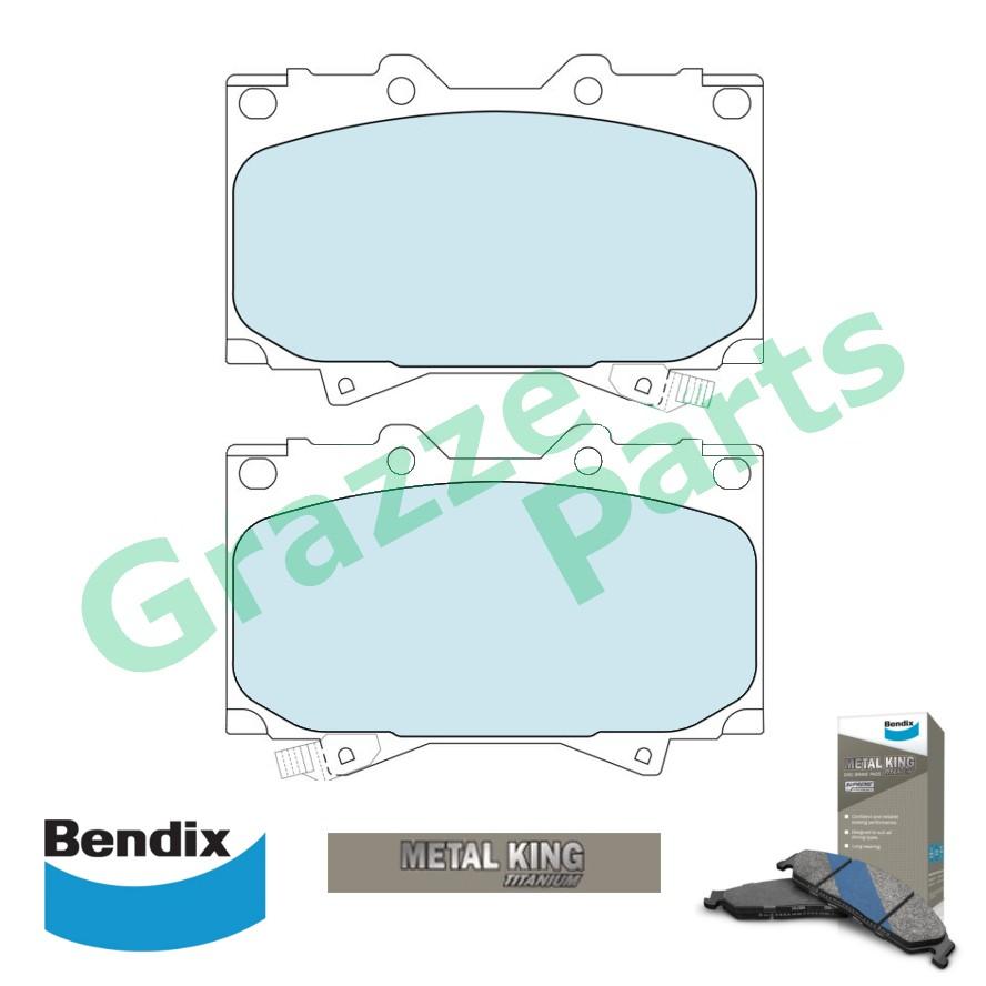 Bendix Metal King Titanium Disc Brake Pad Front for DB1365 Toyota Land Cruiser HZJ78 Ninja King HDJ 100 UZJ18 UZJ100