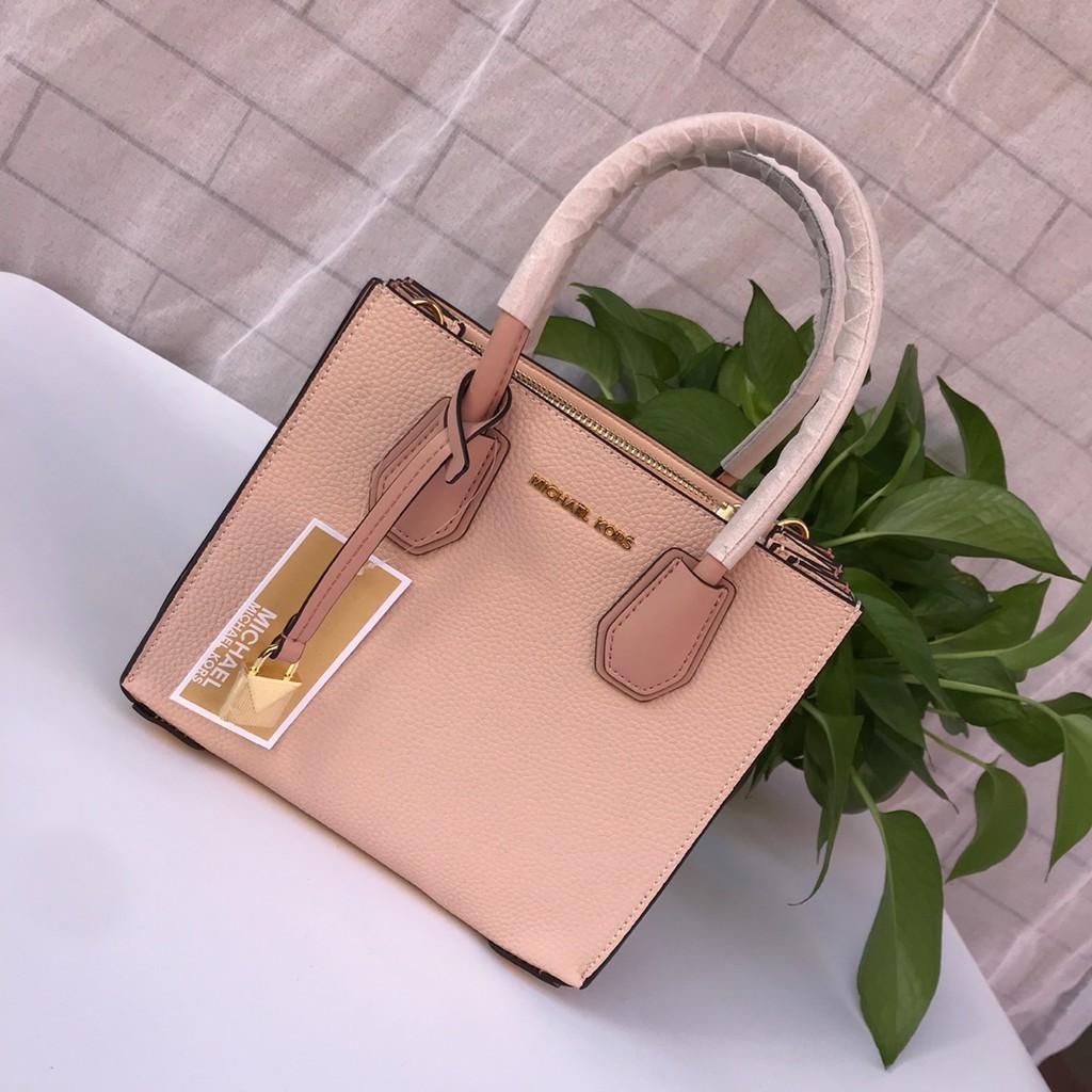 Mk New Organ Square Bag Handbag Lychee Stripe Cowhide
