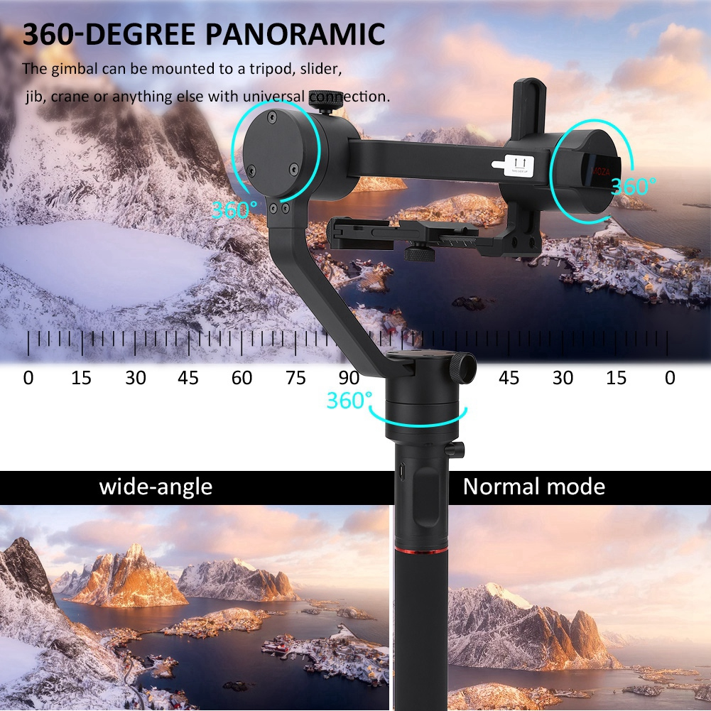 3 Axle Handheld Gimbal Stabilizer for DSLR Mirrorless Camera