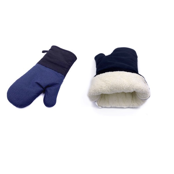 Baker Glove (Mitten)- Aramid Fabric, Navy Blue, 35 x 19cm