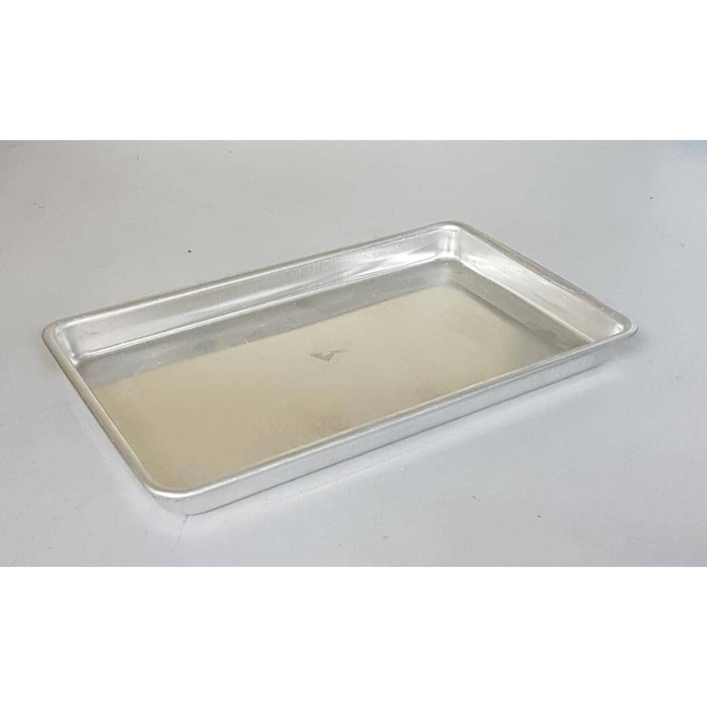 20 cm(Straight up) / 25 cm Aluminum Alloy Rectangular Shallow Durable Baking Pan/ Baking Tray