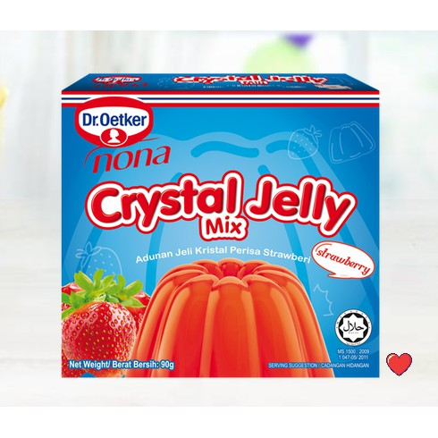 Dr.Oetker Nona Crystal Jelly Mix ~ Strawberry Flavour 90g  ( Free Fragile + Bubblewrap Packing )