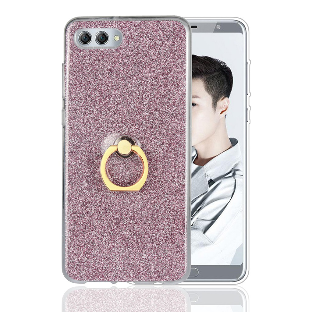 Top New TPU Silicone Phone Cover For Huawei Y5 2017 2018 Flash Powder Ring  Case