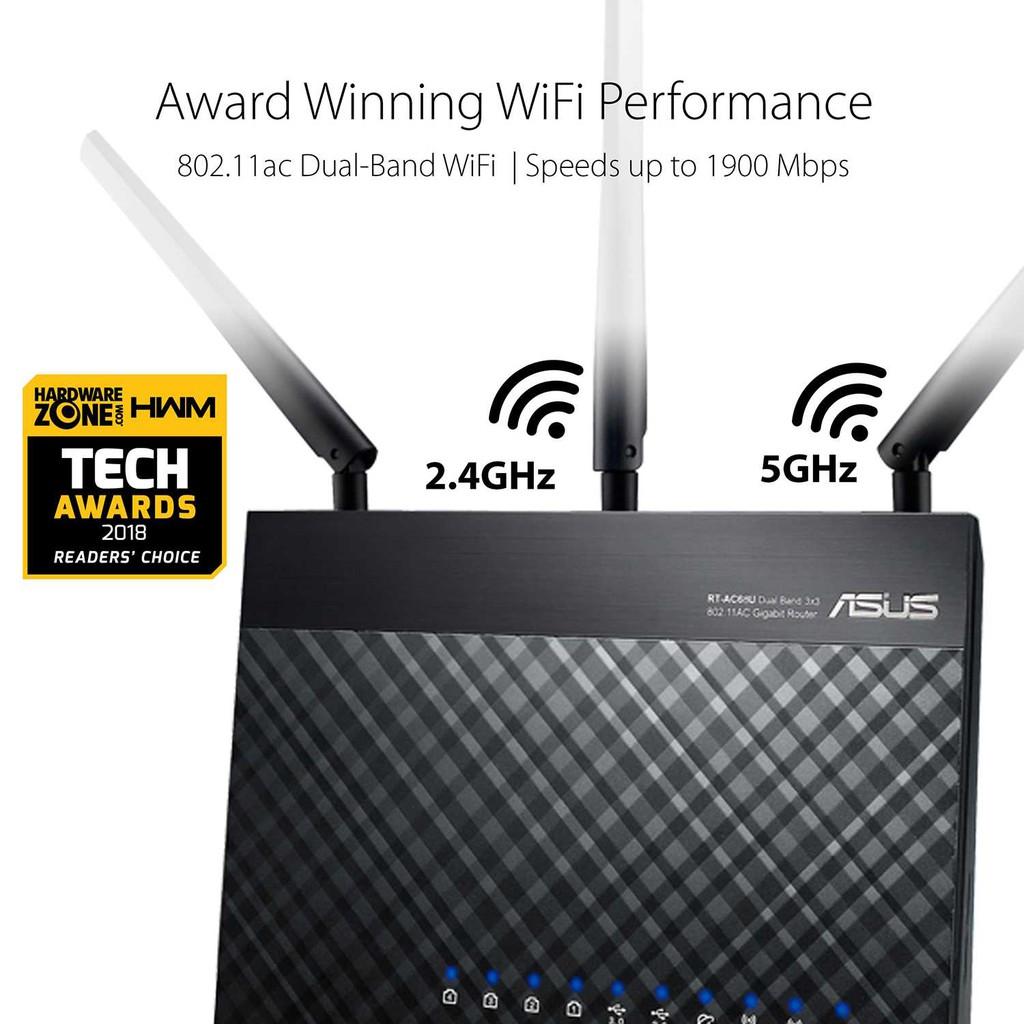 ASUS RT-AC68U AC1900 AiMesh WiFi Router MU-MIMO (Unifi Maxis
