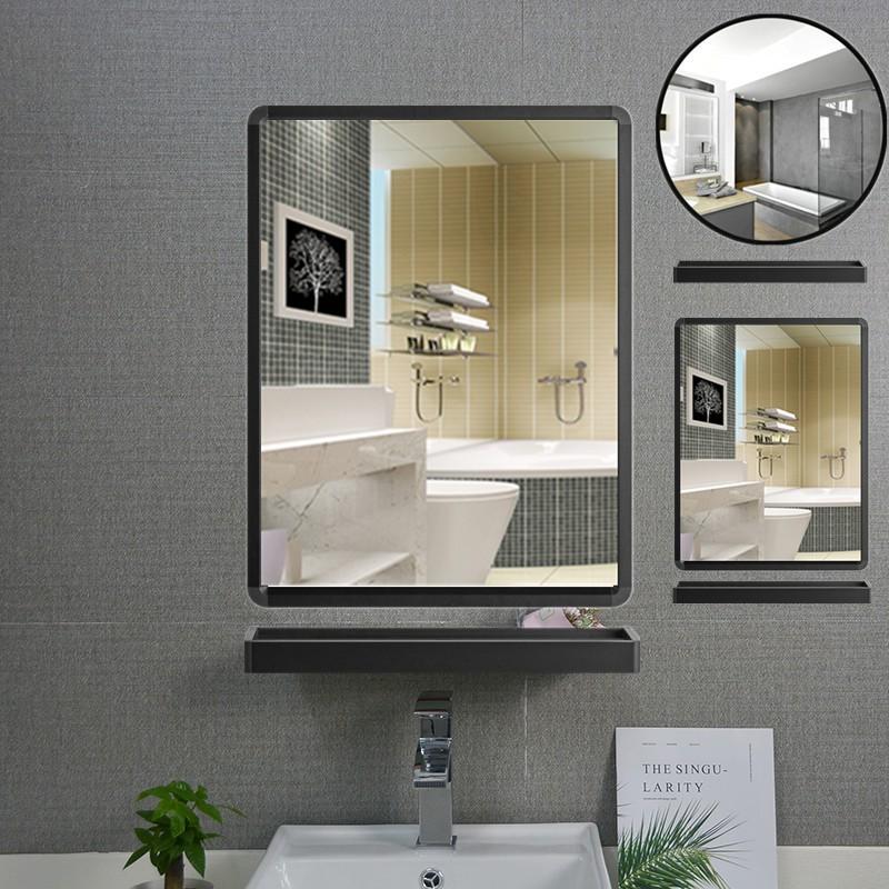 Mirrors Bathroom Mirrors Nordic Bathroom Mirror Round Belt Rack Free Hole Wall Mounted Toilet Makeup Shopee Malaysia