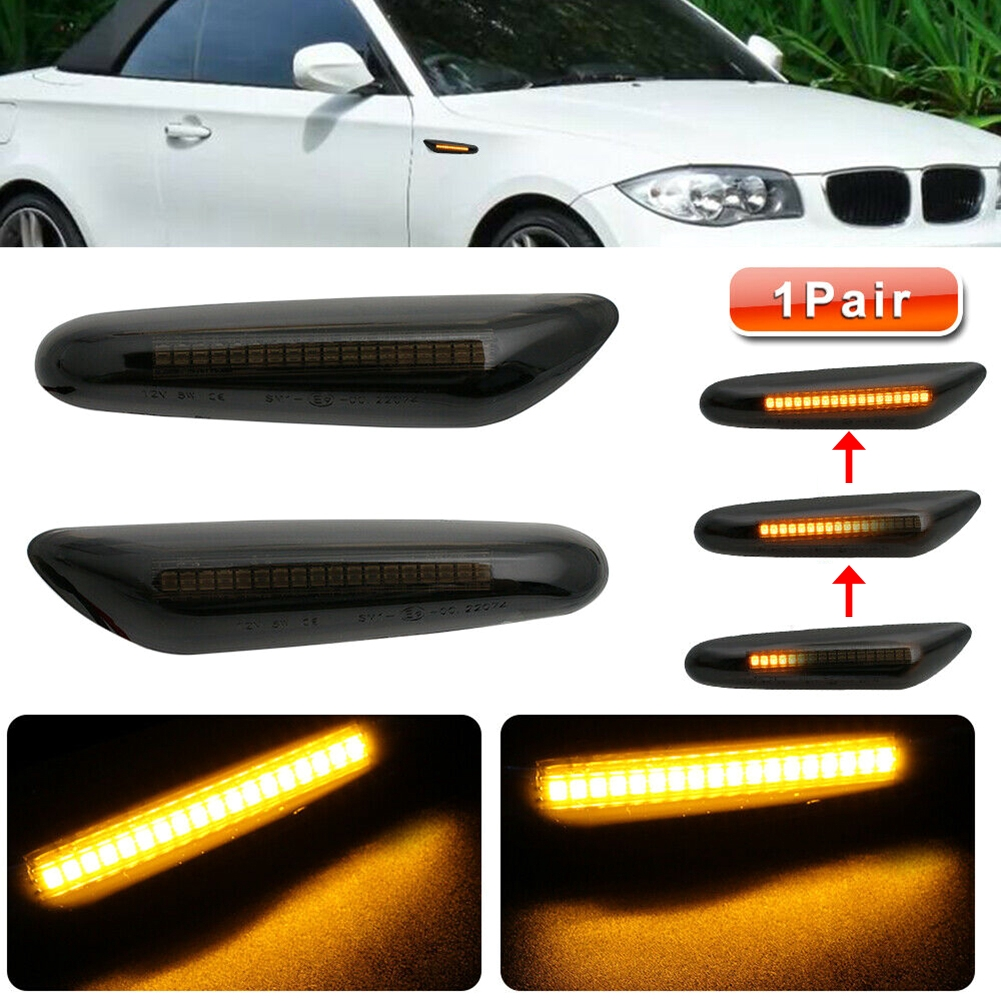 CLEAR CRYSTAL SIDE REPEATERS FOR FACELIFT BMW E46 3 /& 5 SERIES /& E60 E61  /& X3