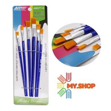 Astar AB577-6 Nylon Brush Set