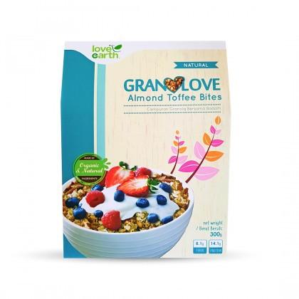 Love Earth Almond Toffee Bites Granolove 300g Granolove 巴旦木太妃格兰诺拉 300公克 (盒装)