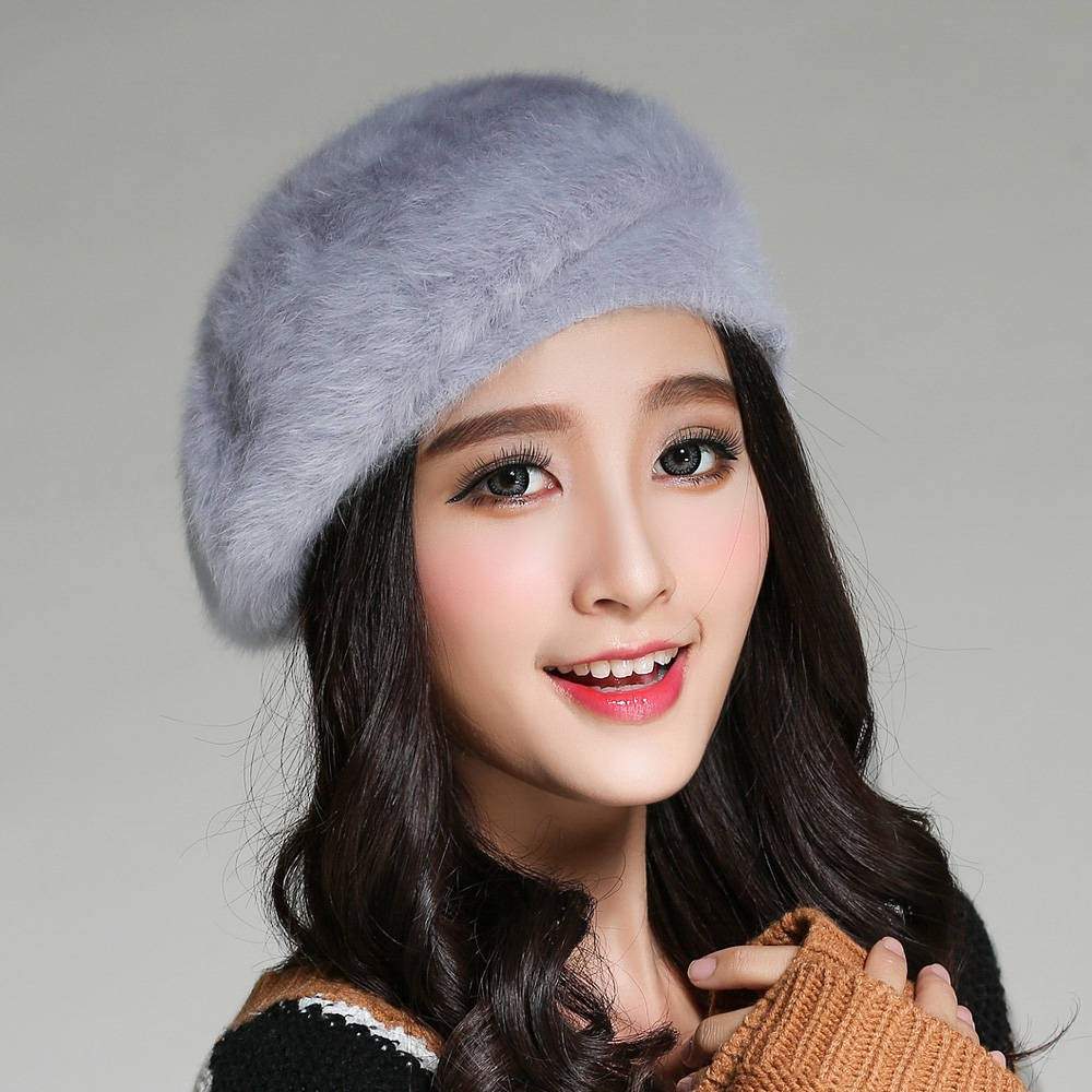 Pandaie-Womens Hats Fashion Womens Winter Wool Ball Plus Velvet Thick Knit Hat Two-Piece