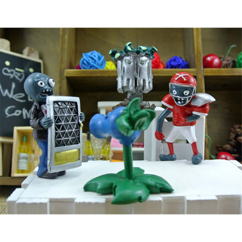 8pcs Plants vs Zombies Action Figures Collection Toy Gift Cake Topper Style