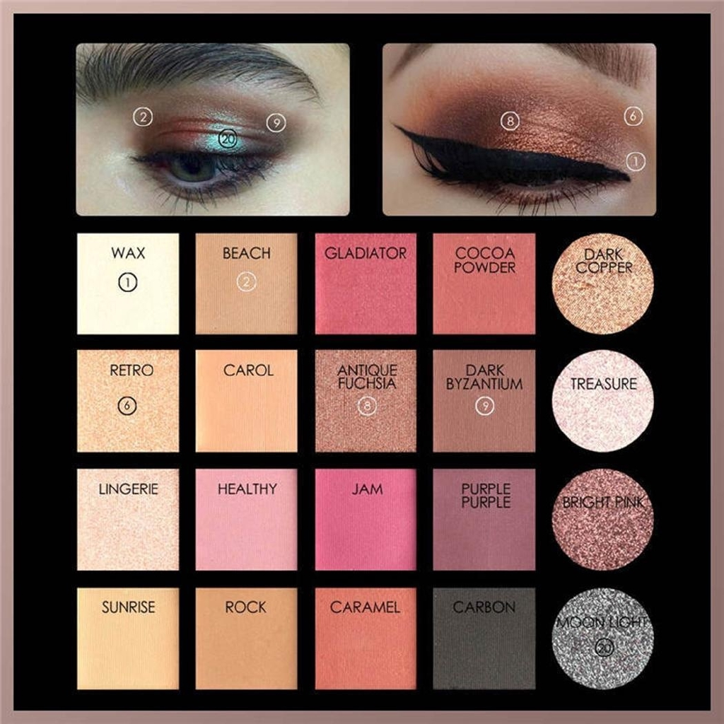 20 Colors Glitter Multicolored Makeup Eyeshadow Cosmetics Palette