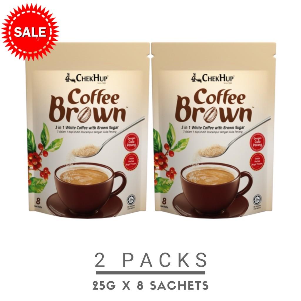 Chek Hup Coffee Brown (25g x 8s) [Bundle Of 2 Pkts]