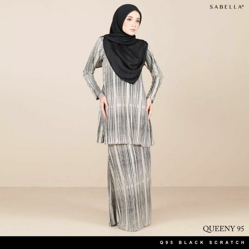 Sabella Queeny Kurung Size XS,S,M,L (Ready Stock)