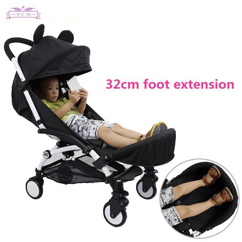 Strollers Accessories Activity & Gear Generic Baby Stroller Footrest 32cm Bumper Toddler Baby Stroller Booster Feet Infant Baby Stroller Foot Dragging