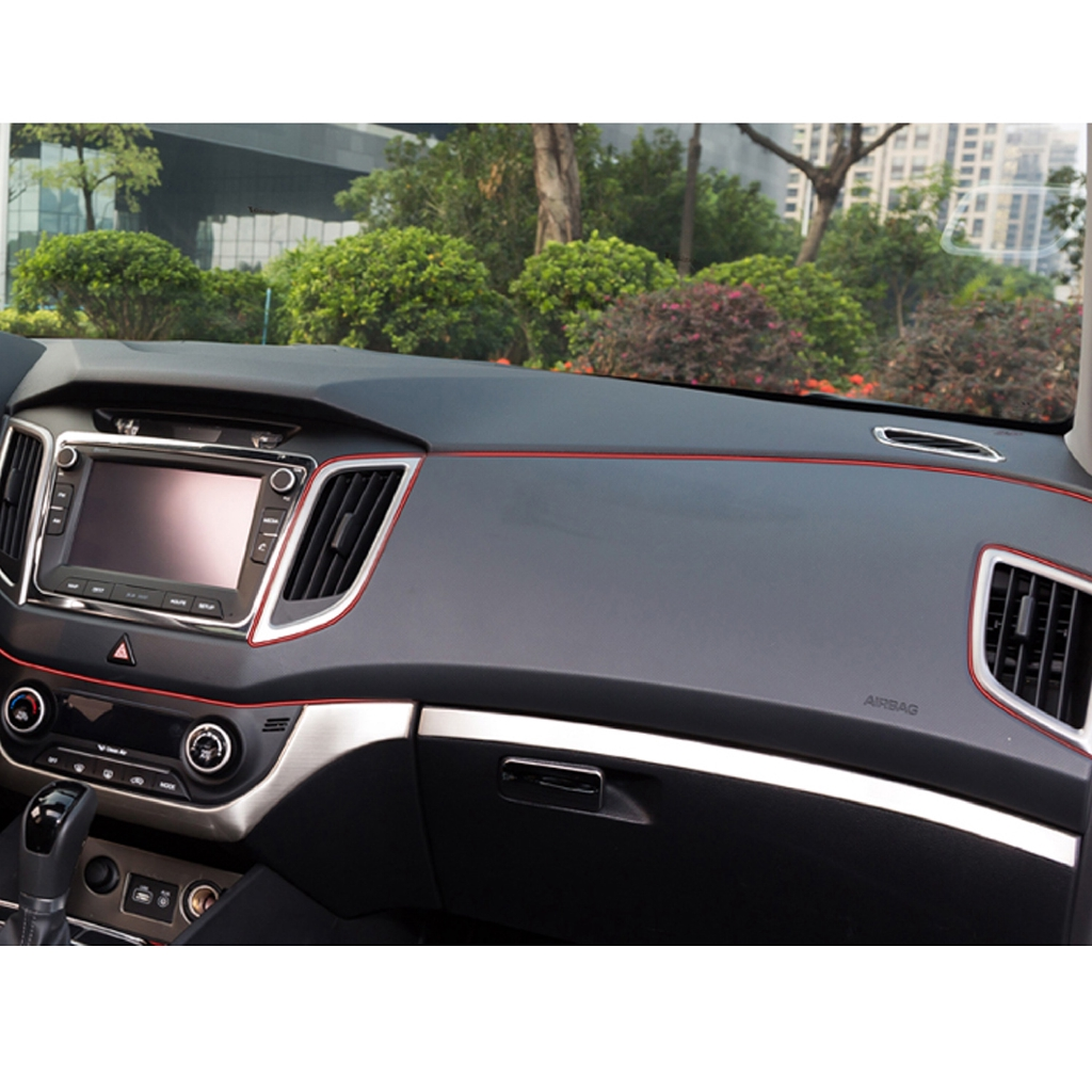 5m Universal Flexible Car Interior Moulding Line Trim Decorate Accessories for Intake Grille Windows Columns Ceiling Wheel Bumper Fenders Air Vents Gold