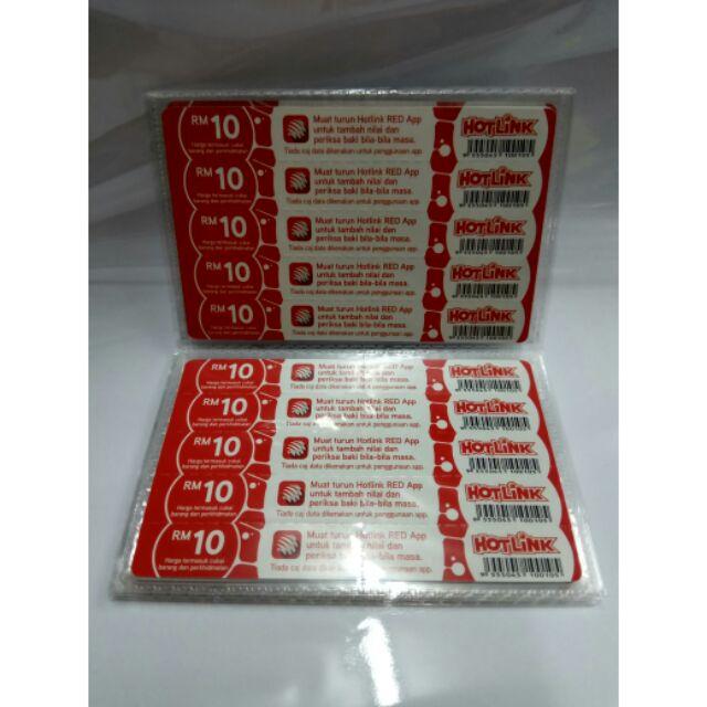 5pcs Maxis Hotlink Rm10 Top Up Topup Card Kad Tambah Nilai Shopee Malaysia