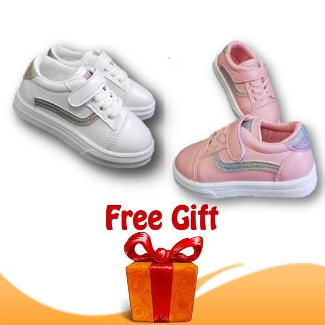 Kasut Rainbow Vans Budak Perempuan by OEM Girl Shoes Vans Sneakers Fashion Style + FREE GIFT