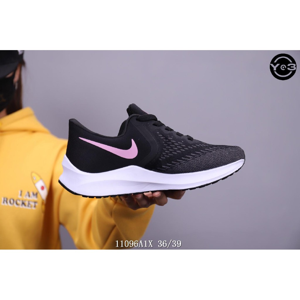 NIKE AIR ZOOM VOMERO WINFLO 6 six generations of running shoes, jogging shoes, casual shoes, black powder Nike