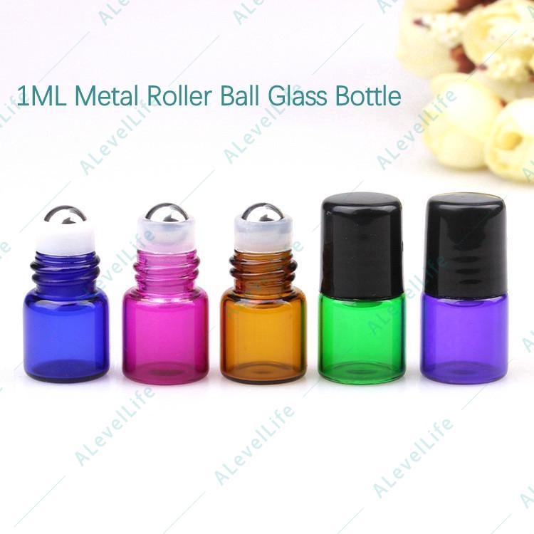67e82ed93e11 10 Bottles 1ml 2ml 3ml Glass Metal Roller Ball Aroma Essential Oil ...
