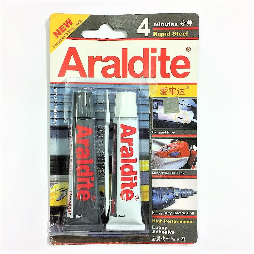 Araldite 4minutes Rapid Steel High Performance Epoxy Adhesive (2 x 15ml)