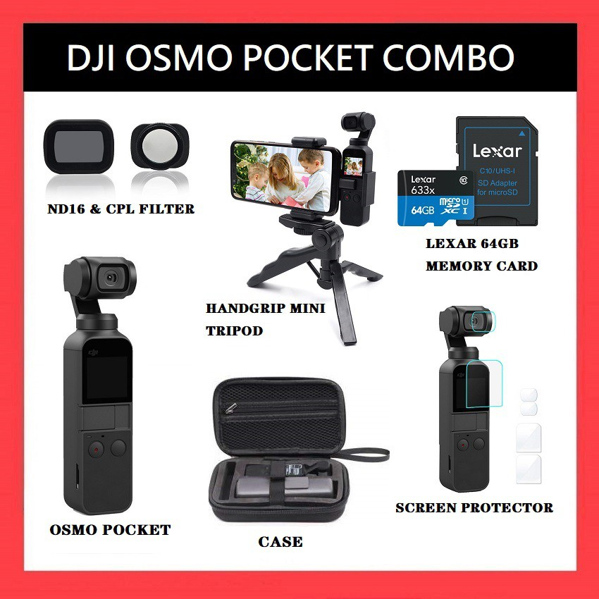 (READY STOCK) DJI OSMO POCKET COMBO