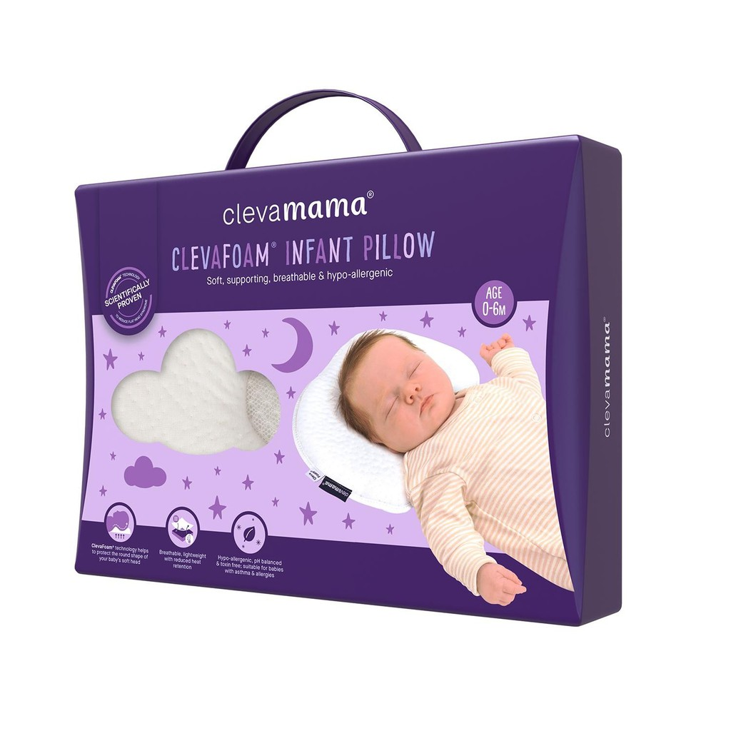 Pillowcase Coral Clevamama Clevafoam Pram Pillow