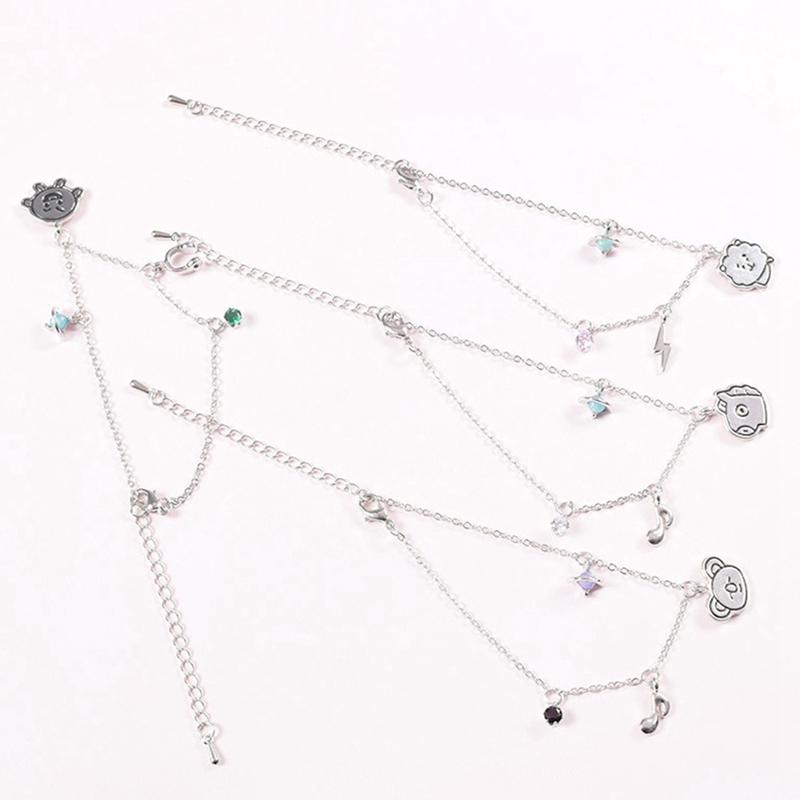 Fashion BTS Cute Bracelet Anklet Hot Jewelry SHOOKY CHIMMY TATA COOKY Cartoon