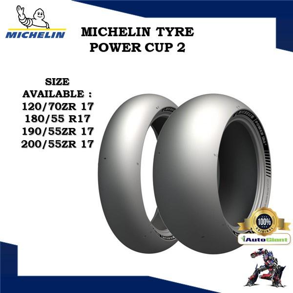 MICHELIN TAYAR POWER CUP 2 (100% ORIGINAL) 120/70ZR 17, 180/55 R17, 190/55ZR 17, 200/55ZR 17