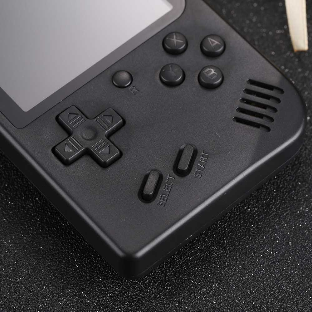 Handheld Game Console 3 Inch w/ 168 Games Retro Game Player Birthday Christmas Presents for Children (Black)