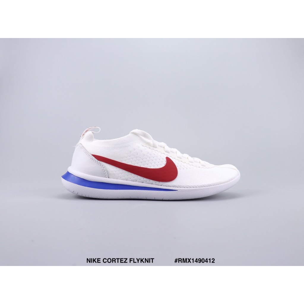 online store 4ac45 2da57 NIKE CORTEZ FLYKNIT cannonball retro running shoes unisex red white