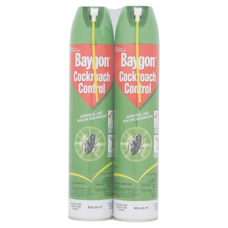 Baygon Cockroach Control Aerosol (2 x 570ml)