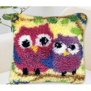 New 3d Latch Hook Cushion Kits Gift Diy Two Needlework Crocheting