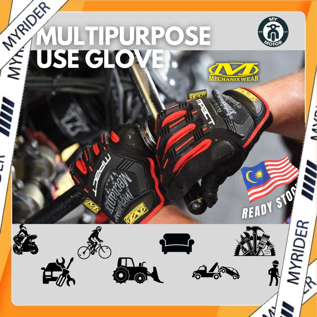 MYRIDER M-Pact Glove Sarung Tangan Motorsikal Tactical Military Fitness Riding Gloves Full Finger (Touch screen) Multi
