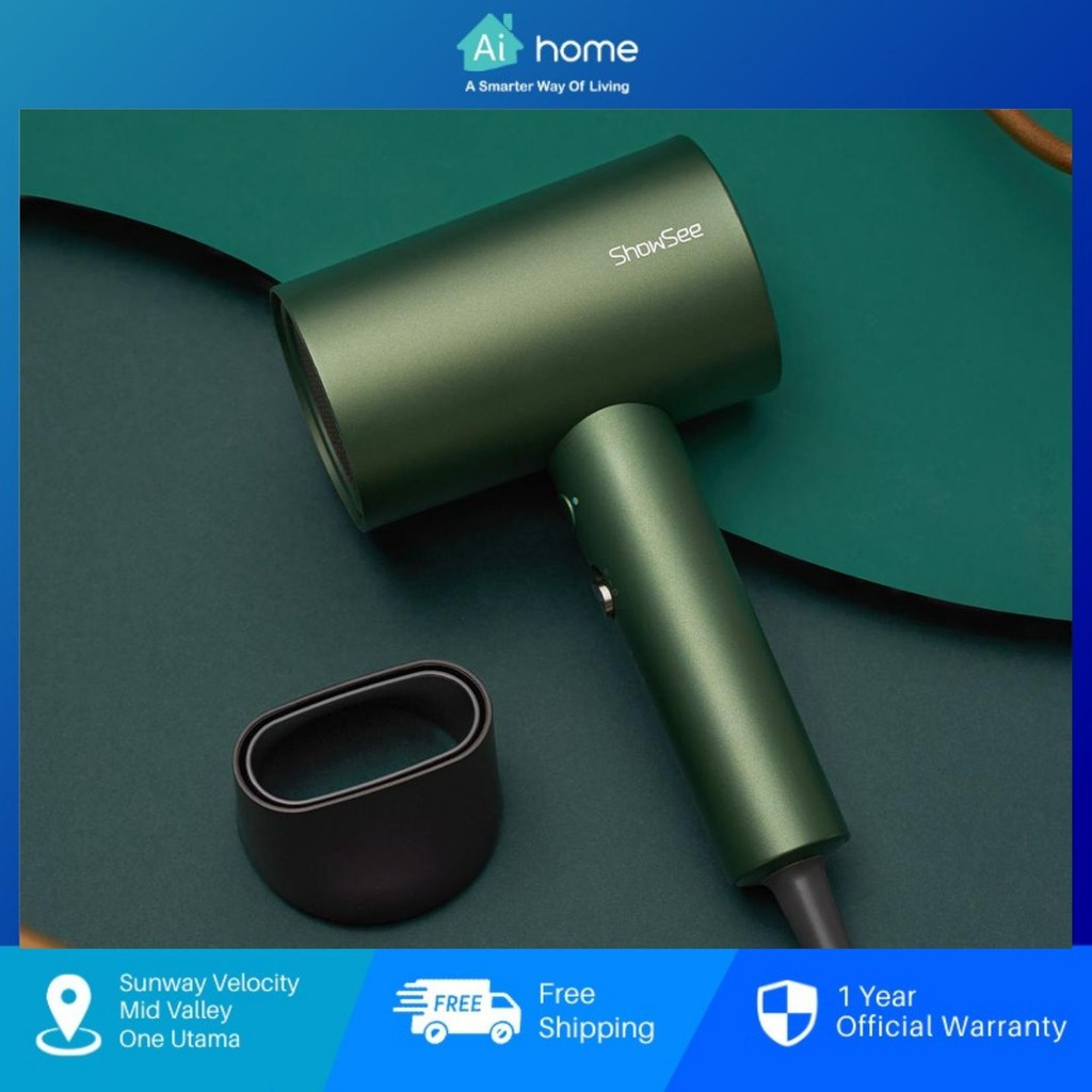 ShowSee A5 Hair dryer - 1800W   NTE Intelligent Constant Temperature   Double Layer Anti-scald Material [ Aihome ]