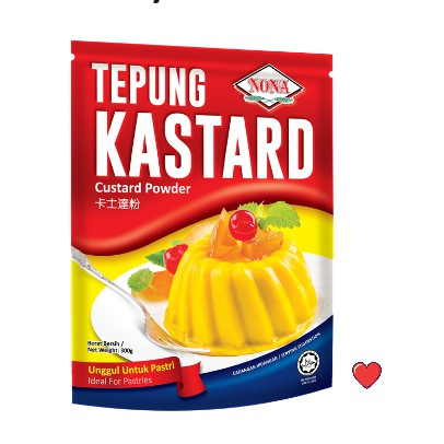 NONA Custard Powder / Tepung Kastard @ 300g ( Free fragile + Bubblewrap Packing )