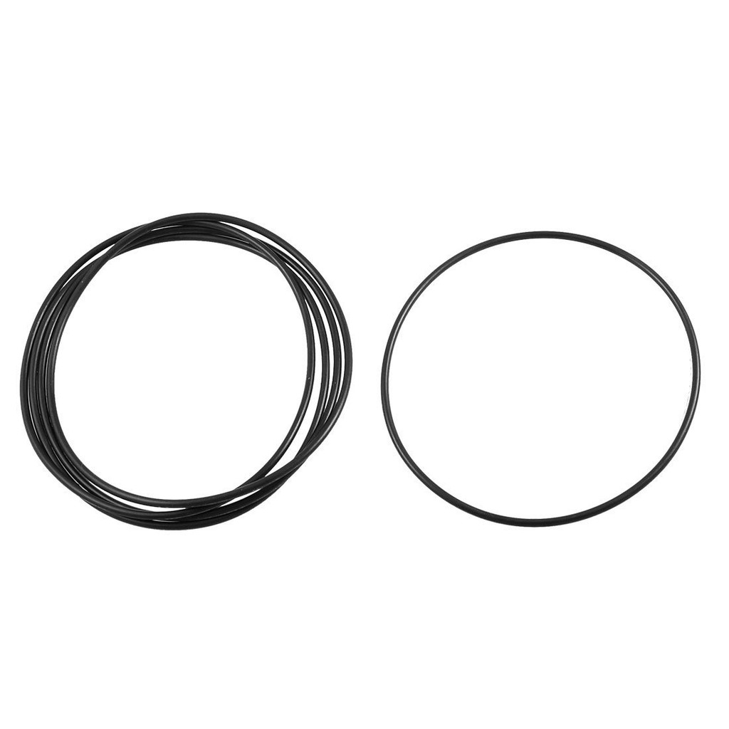 7 mm x 13 mm x 3 mm 50 Pieces Nitrile Rubber O-Ring Washer Seal Black