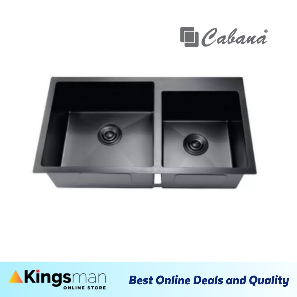 [Kingsman] Undermount Stainless Steel Home Living Cabana Kitchen Sink Double Bowl Ready Stock - CKS7405 Ready Stock