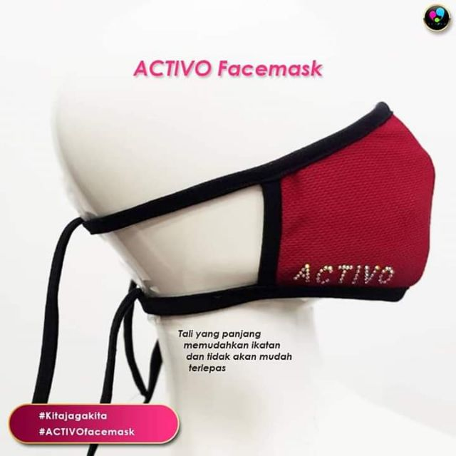 Cloth Facemask Washable & Reusable | ACTIVO Facemask