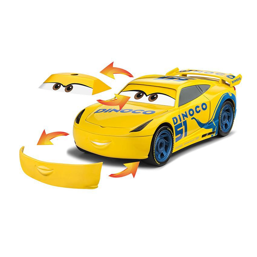 REVELL JUNIOR KIT 1:20 DISNEY CARS CRUZ RAMIREZ (YELLOW) LIGHT AND SOUND KIDS PLASTIC MODEL KIT COLLECTION 00862