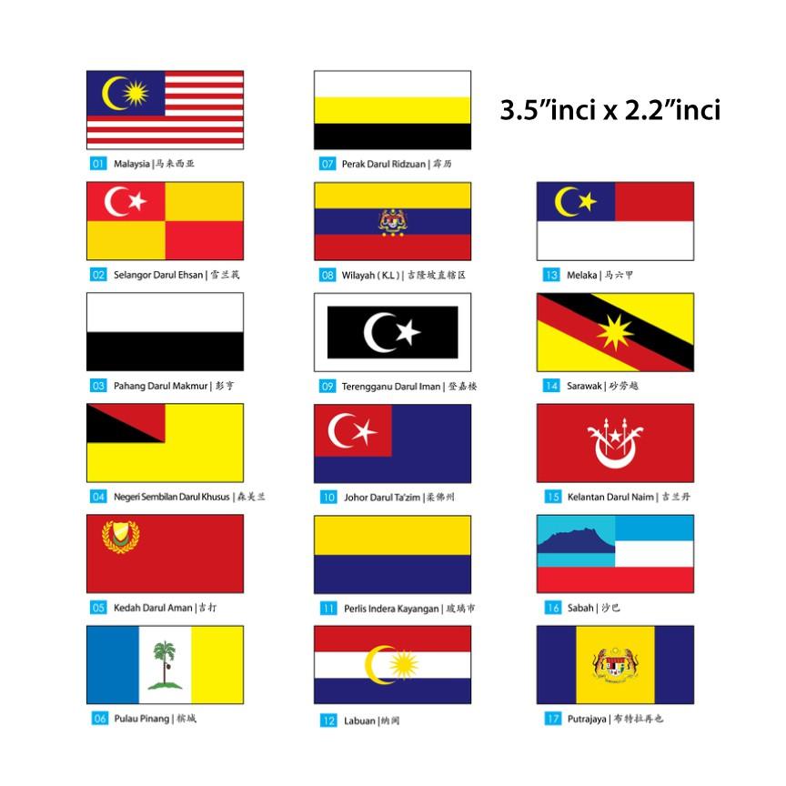 Sticker Bendera Negeri Negeri Malaysia Shopee Malaysia