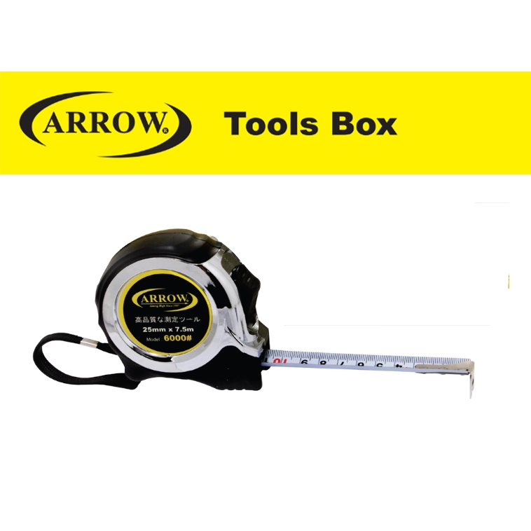 ARROW AMTC6000  HIGH QUALITY TAPE MEASURE HEAVY DUTY PVC COATED  MEASURING TAPE EASY USE SAFETY GOOD QUALITY